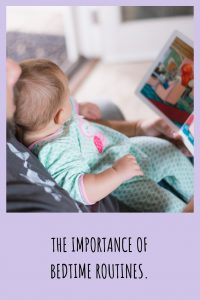 Importance of bedtime routines.