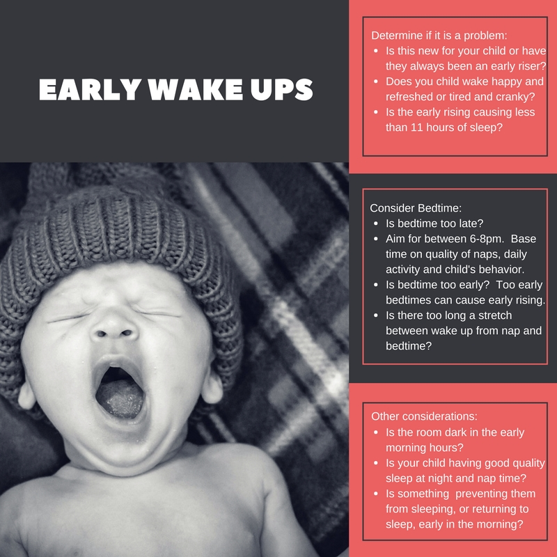 Find out why your baby or child might be waking up too early in the morning.