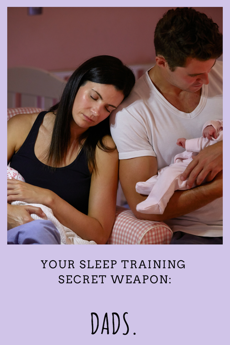 Dad's can really help make sleep training successful - they can help support mother's in making the decision, help break the association between feeding and sleeping and so much more.