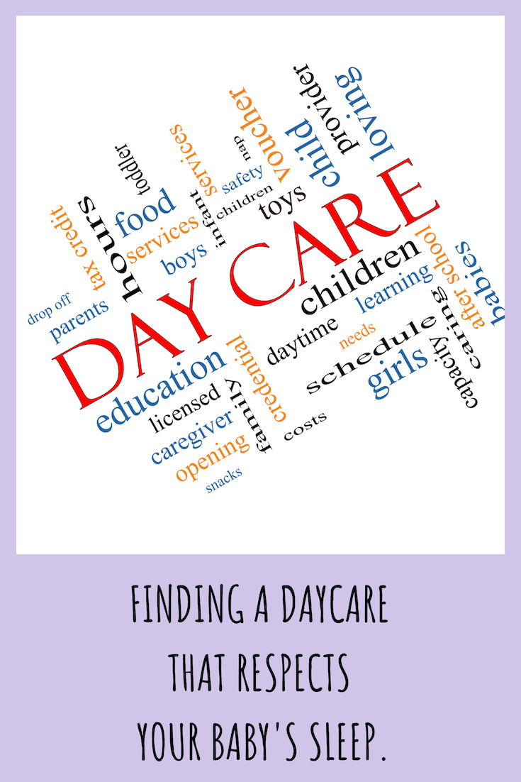 Choosing a daycare that respects sleep