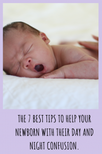 Day and night confusion is a difficult newborn period. It's normal but there are things you can do to help encourage longer stretches overnight.